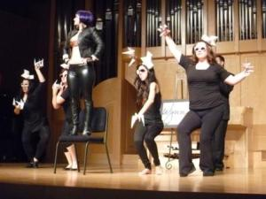 """UNLV Opera Theatre: Mozart's """"The Impresario"""".  Lady Gaga (Erin Kennelly) and her Little Monsters."""