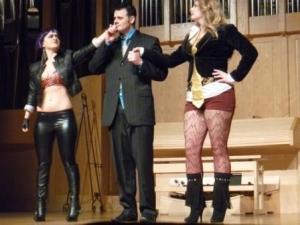 "UNLV Opera Theatre: Mozart's ""The Impresario"" Trio.  Lady Gaga, Ari Gold, Madonna."