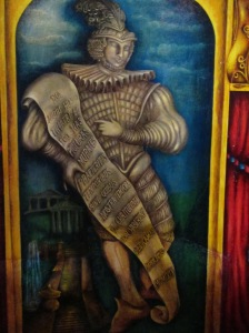 Detail of Amargosa Opera House murals